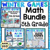 5th Grade Winter Math - 5th Grade Winter Games Math Activities Bundle