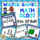 5th Grade Winter Games: 5th Grade Winter Math Scoot
