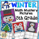 5th Grade Winter Math: 5th Grade Math Mystery Pictures