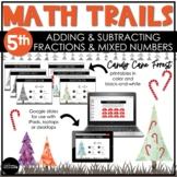 5th Grade Winter Math Scavenger Hunt   Add & Subtract Frac