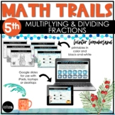 5th Grade Winter Math Scavenger Hunt   Multiplying and Div