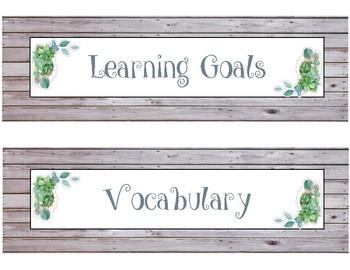5th Grade Wit & Wisdom ELA Focus Board Headers