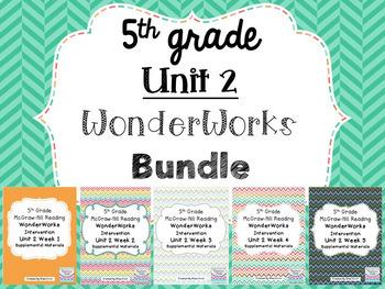 5th Grade Unit 2 WonderWorks- BUNDLE!!!