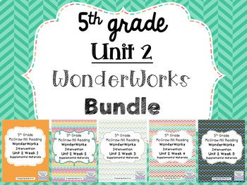 5th Grade Unit 2 Reading WonderWorks- BUNDLE!!!