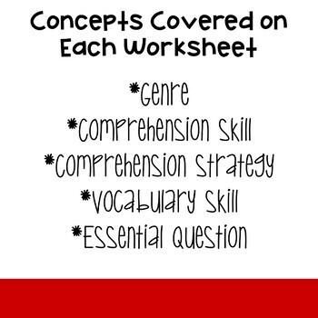 5th Grade Wonders 2020 Weekly Reading Worksheets Unit 1