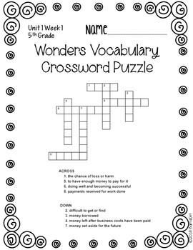 5th Grade Wonders McGraw Hill Reading *** Unit 1 Vocabulary Bundle ***