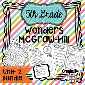 5th Grade Wonders McGraw Hill Reading *** Unit 2 Bundle ***