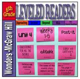 Mc Graw-Hill 5th Grade Wonders Post-its Unit 4