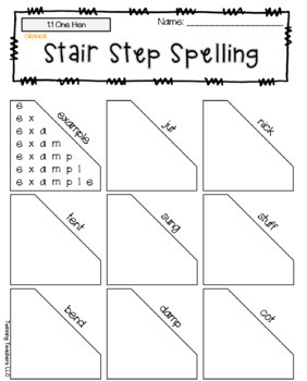 5th Grade Wonders Spelling - Stair Step Spelling - Approaching Lists - UNITS 1-6