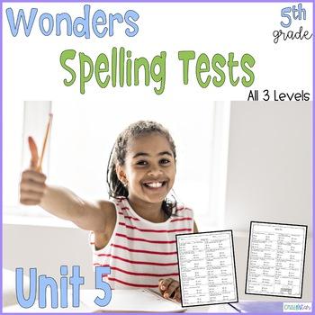 5th Grade Spelling Tests, Unit 5