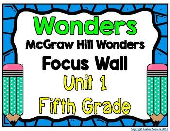5th Grade Wonders Unit 1 Focus Wall