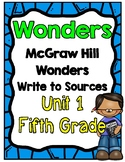 5th Grade Wonders Unit 1 Write to Sources
