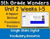 5th Grade Wonders Unit 2 Digital Vocabulary for Google Classroom