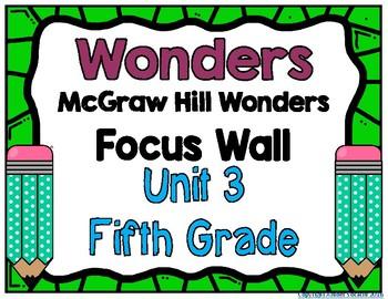 5th Grade Wonders Unit 3 Focus Wall