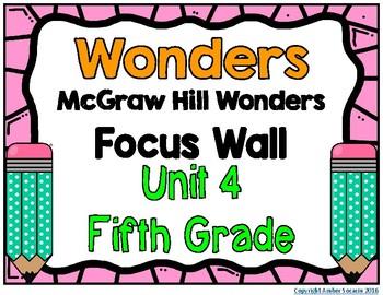 5th Grade Wonders Unit 4 Focus Wall