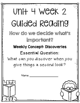 5th Grade Wonders Unit 4 Guided Reading