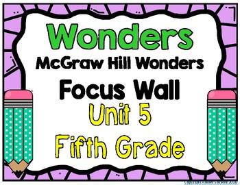 5th Grade Wonders Unit 5 Focus Wall