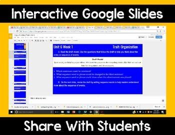 5th Grade Wonders Unit 6 Digital Writing Traits for Google Classroom