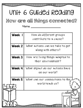 5th Grade Wonders Unit 6 Guided Reading
