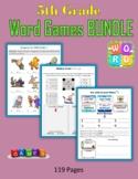 5th Grade Word Games BUNDLE (Print + Digital Activities)