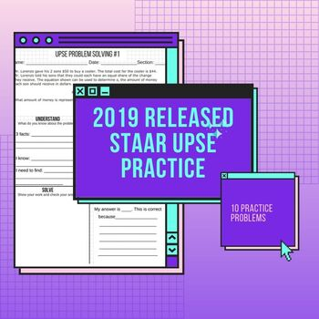 5th Grade Word Problem Solving-- **2019** Released STAAR UPSE