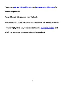 5th Grade Word Problems Volume 1, with answer keys