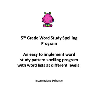 5th Grade Word Study Spelling Program