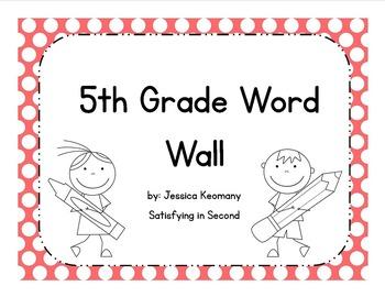 5th Grade Word Wall Vocabulary & Activities