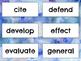 5th Grade Word Wall Vocabulary Quarter 1