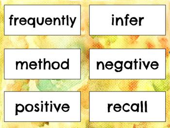 5th Grade Word Wall Vocabulary Quarter 2