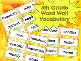 5th Grade Word Wall Vocabulary Quarter 2