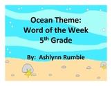 5th Grade Word of the Week - Ocean Theme