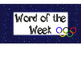 5th Grade Word of the Week - Olympic Theme