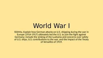 5th Grade World War I PPT