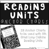 5th Grade Reading Anchor Charts for Lucy Calkins {Growing Bundle}