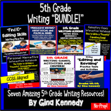 5th Grade Writing BUNDLE, Expository, Narratives, Prompts,
