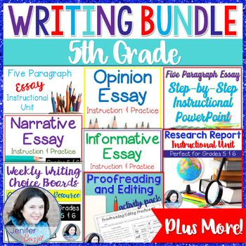 5th Grade Writing Bundle / 6th Grade Writing Bundle