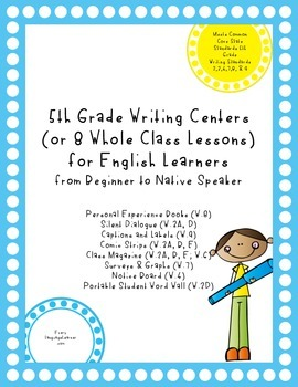 5th Grade Writing Centers (or 8 Whole Class Lessons) for English Learners