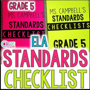 5th Grade Writing Florida Standards Checklist