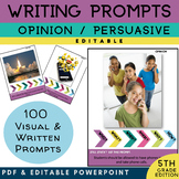 5th Grade Writing Prompt | Opinion Argument Writing | PICT