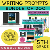 5th Grade Writing Prompts Bundle | 200 Writing Prompts | G
