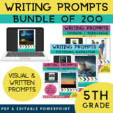 5th Grade Writing Prompts Bundle 200 Writing Prompts Narra
