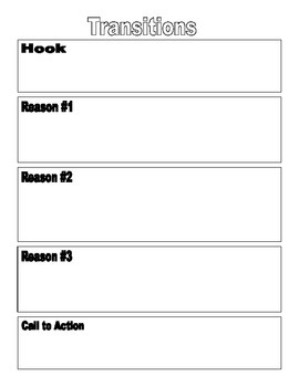 5th Grade Writing Transitions Bulletin Board and Lesson Worksheet