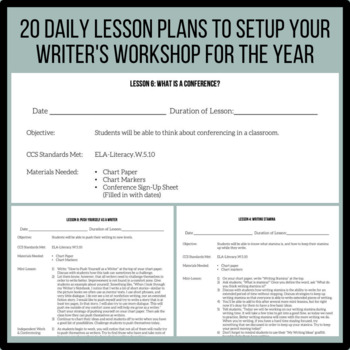 5th Grade Back to School Writing Unit | Unit 1 | 4 Weeks of CCSS Lessons