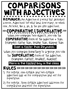 5th Grade Writing: Usage & Mechanics - Comparisons With Adjectives and Adverbs