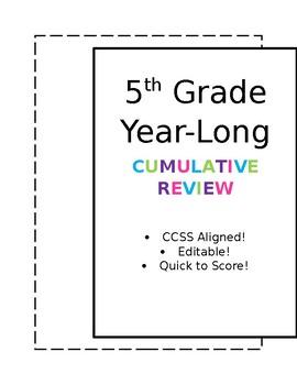 5th Grade YEAR-LONG Cumulative Review