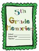 5th Grade - Year Long Memory Book - Beg, Mid, and End!