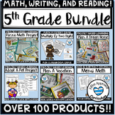 5th Grade Back To School Bundle Project Based Learning, Math, Writing, + More!