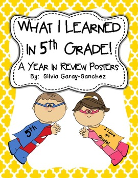 5th Grade Year in Review Write-In Posters