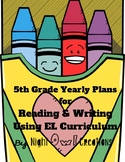5th Grade Yearly Curriculum Overview for Reading and Writi